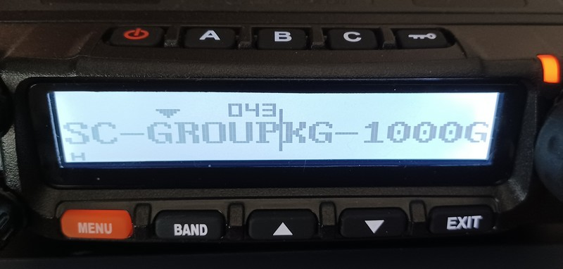 Wouxun KG-1000G Scan Group Menu Option