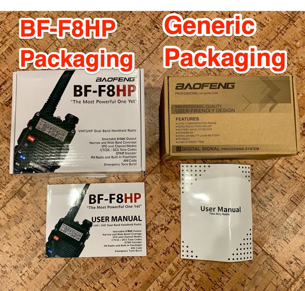 BF-F8HP and Generic Packaging