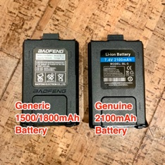generic and genuine battery